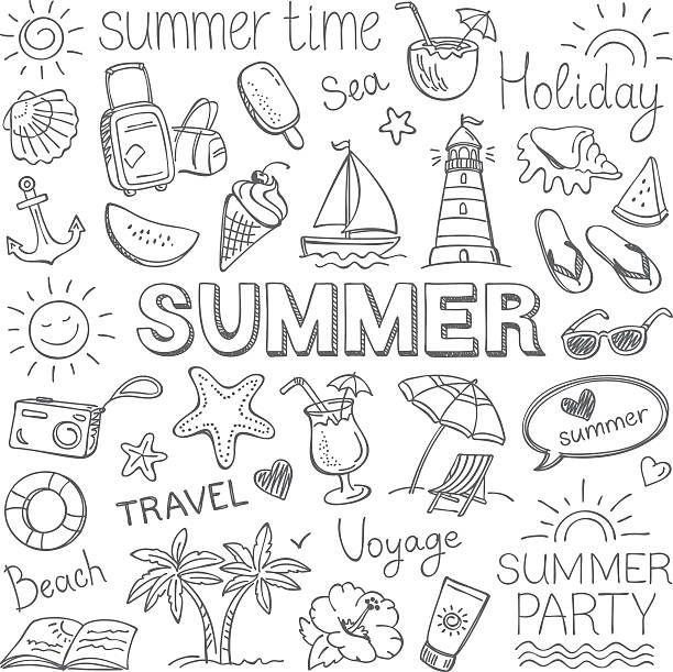 L'estate - illustrazione arte vettoriale