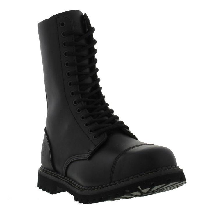 Grinders Herald CS Commando Sole  Black Leather Steel Toe Cap Boots Size UK 7-12 #Grinders #SteelToeCapBoots
