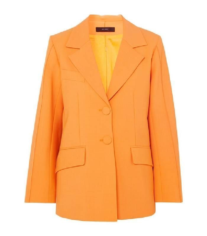 Pin By Elegant Buzzword On Celebrity Style Blazer Orange Blazer Become A Fashion Designer