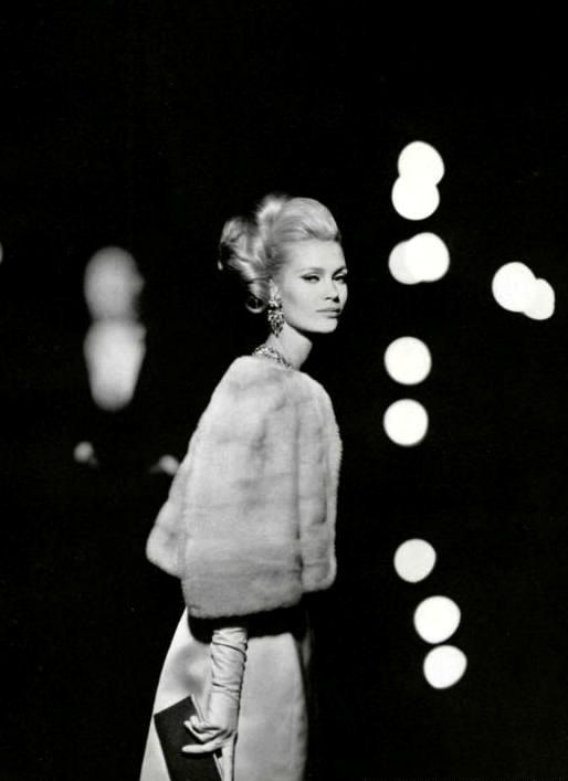 1960's | glamour | fur | gown | luxury
