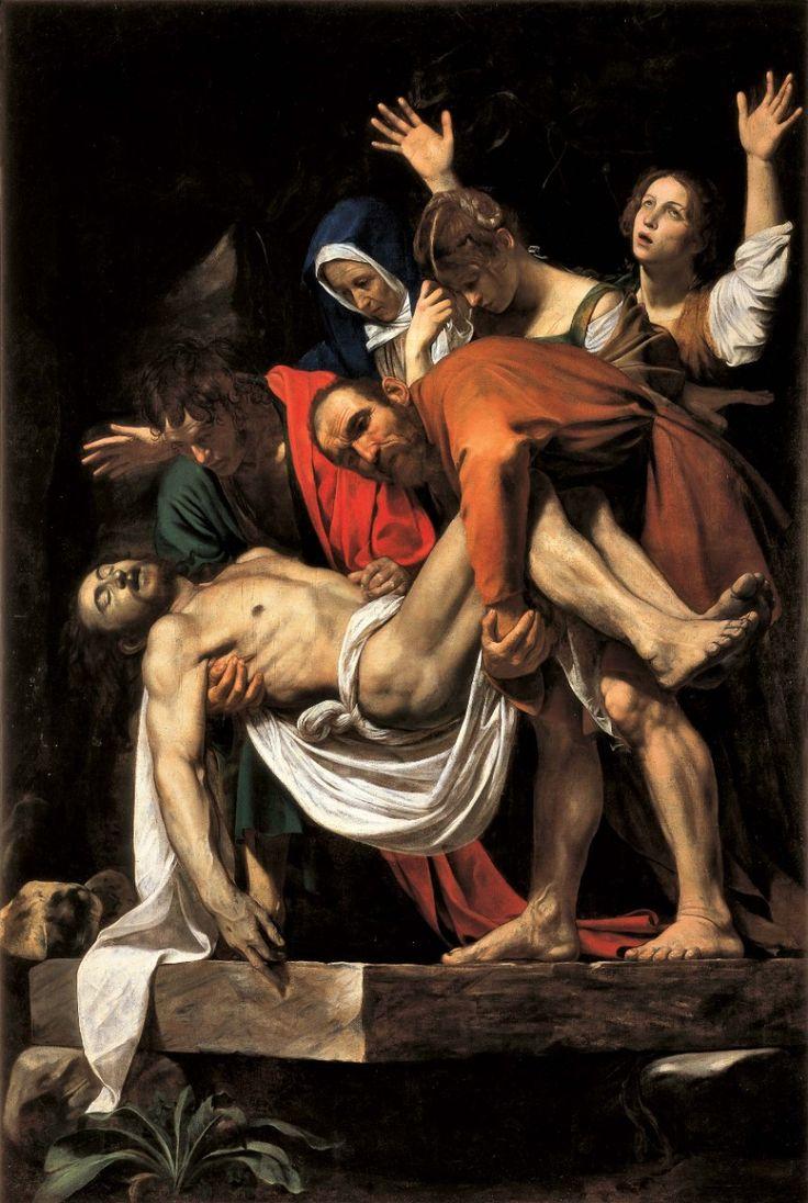 До свидания, Вечный Рим! - Наводы. Микеланджело Меризи, прозванный Караваджо. Положение во гроб, около 1603-1604. Холст, масло.