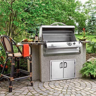 a prefab gas grill