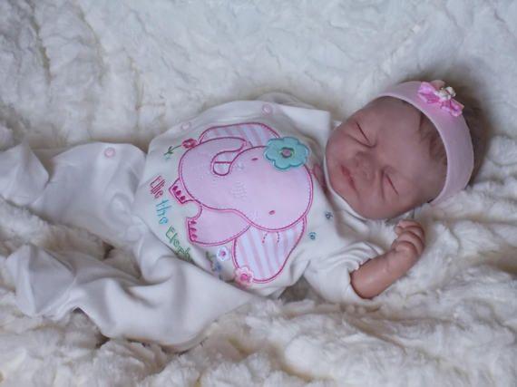 Baby Girl newborn OoaK polymer clay 42 cm