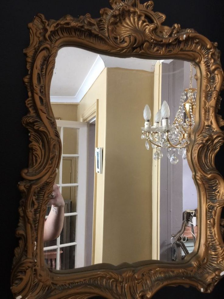 Vintage Ornate Rococo French Style Shabby Chic Mirror Rustic Luxe    eBay