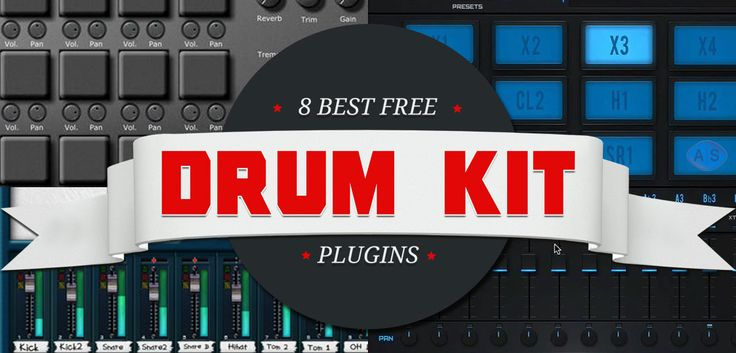 Download a fine selection of 8 best free drum kit VST plugins for finger drumming and drum programming. These free drum kit VST's are 100% royalty free!