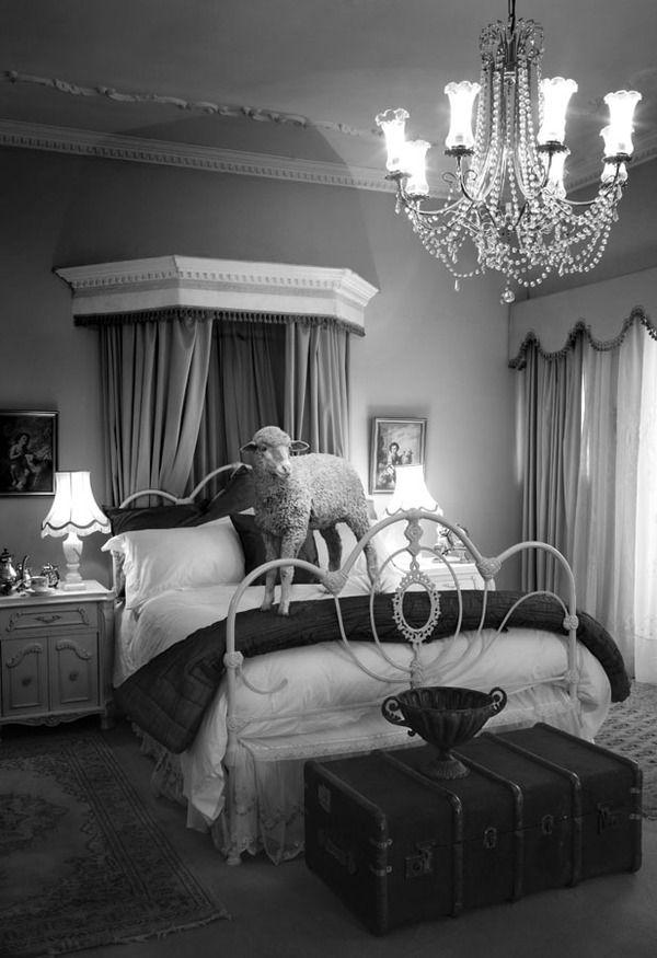 Meryl Sheep in her Hollywood mansion