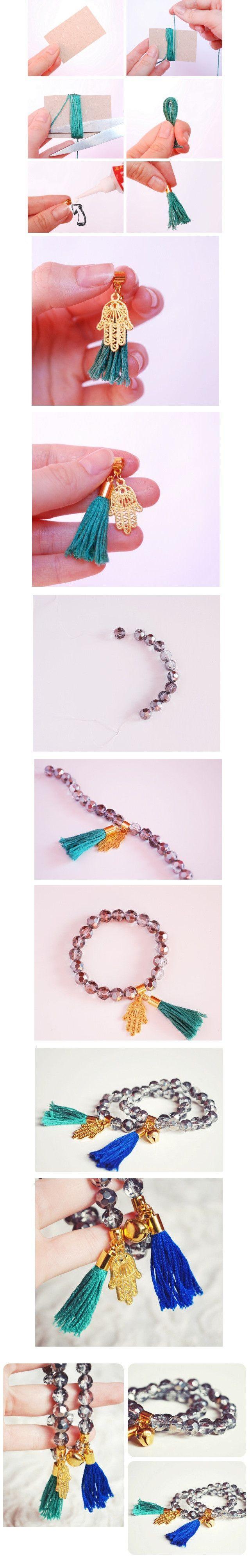 Tendance Bracelets DIY silver and gold bracelets with tassels (DIY Creative Ideas)