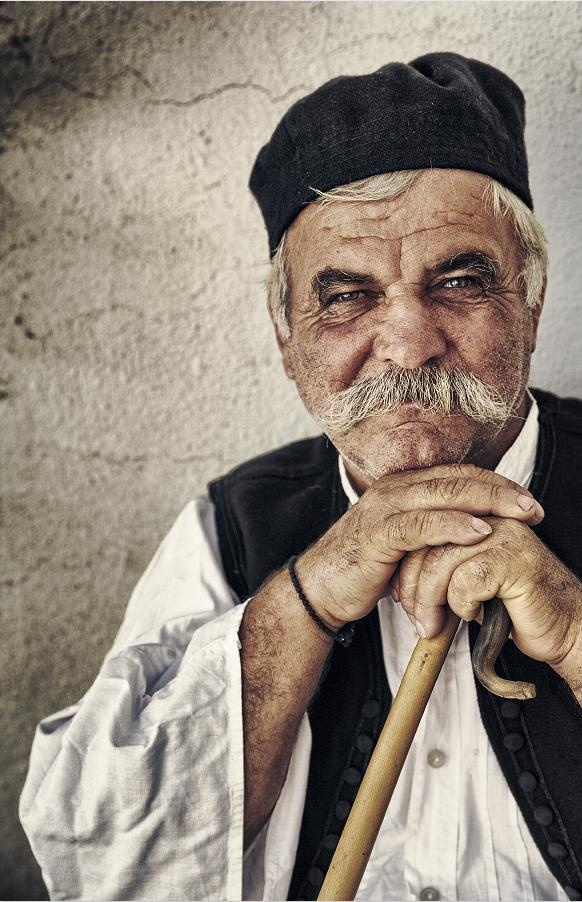 Portrait of an old man from Greece.