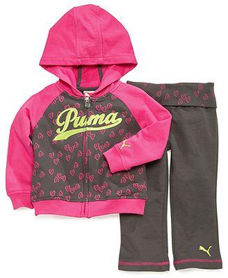Puma Baby Girls' 2-Piece Hoodie & Yoga Pants Set
