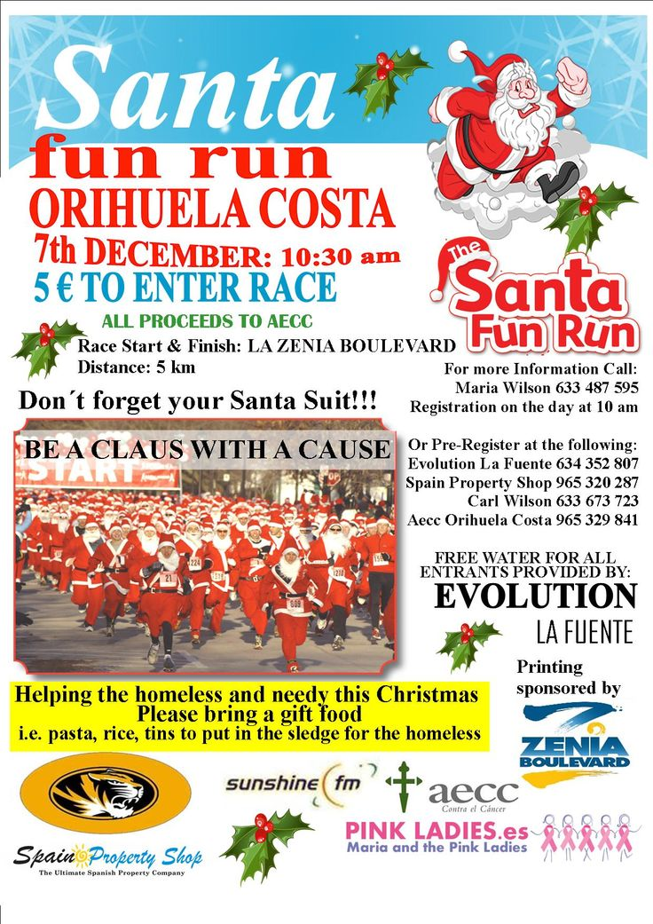 Coming soon: Charity Event organized by Maria and the Pink Ladies in Orihuela Costa. SANTA RUN FUN DAY!!!