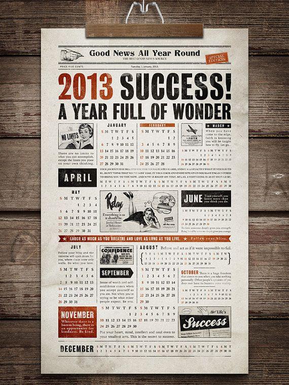 古新聞風カレンダー : 2013年をクリエイティブにする斬新な発想のカレンダーまとめ - NAVER まとめ