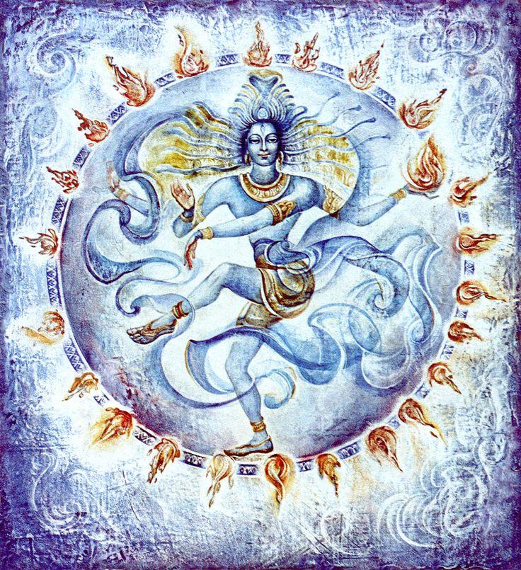 шива | Шива Натараджа. Левкас, 48х53 см