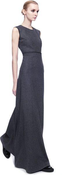 Джамбаттиста Валли Меланж фланель длинное платье серого цвета (серый)