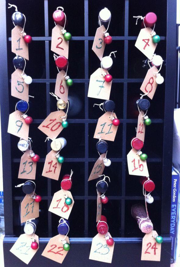 Diy Wine Advent Calendar : Wine advent calendar diggin it pinterest