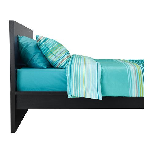 MALM Bed frame, high IKEA Real wood veneer will make this bed age gracefully. Adjustable bed rails allow the use of mattresses of different heights. 199
