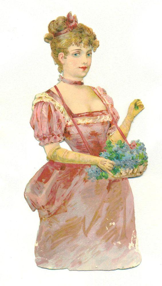 large victorian scrap lady