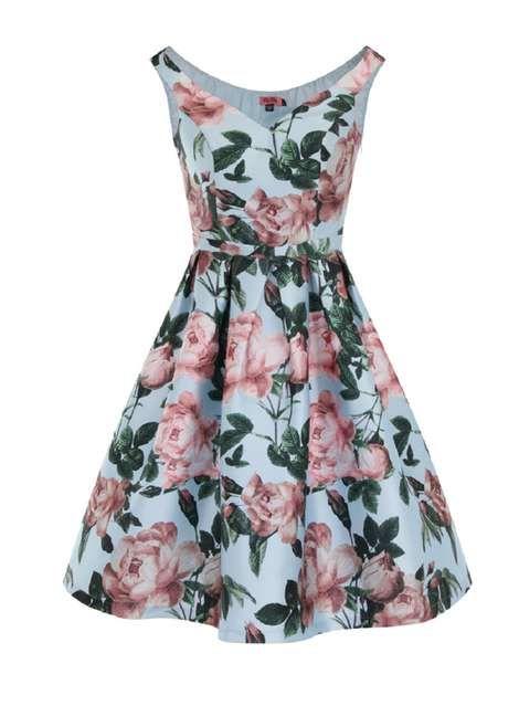**Chi Chi London Bardot floral midi dress - Robes Ajustées & Évasées - Robes - Dorothy Perkins France