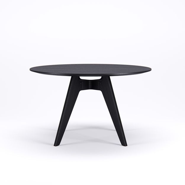 LAVITTA ROUND TABLE 120 CM - 4-LEGGED BLACK