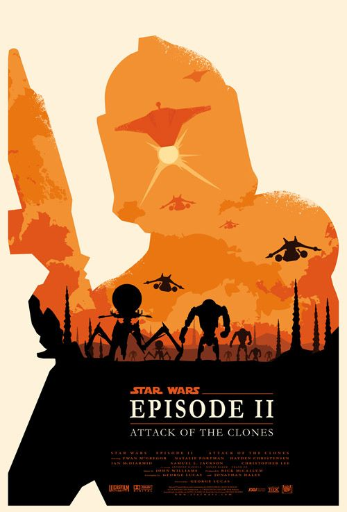Star Wars en affiches minimalistes : L'Attaque des Clones / Olly Moss