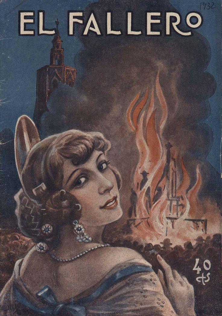 Cubierta de la revista El fallero,  nº 12, año 1932