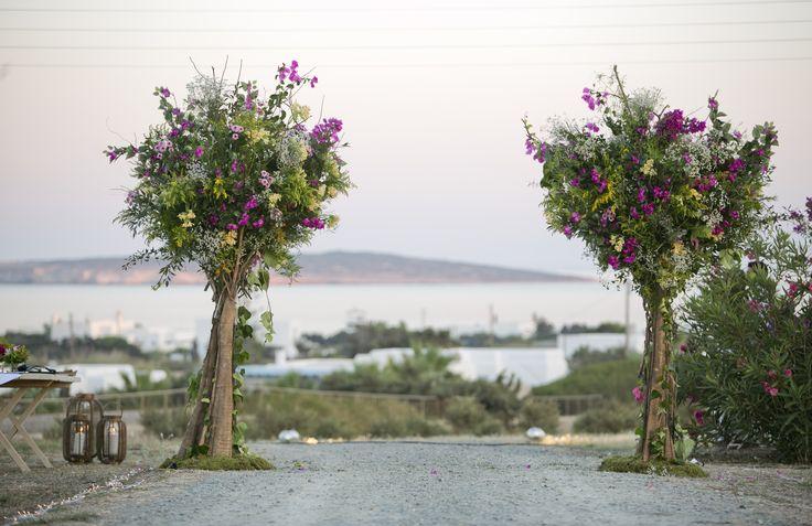 Cristening-Baptism Bunny Theme flowers decoration multi color trees