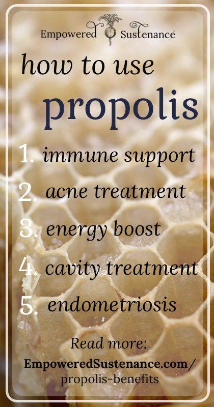 http://propolispropolis.net: Lima alasan mengapa Propolis dapat menjadi obat, yaitu Lebih dari 180 phytochemicals ada di dalam Propolis antara lain bioflavonids, berbagai turunan asam orbanic, phytosterols, terpenoids dlsb. Zat-zat ini terbukti memiliki berbagai sifat anti-inflamatory,antimicrobial, antihistimanine, antimutagenic dan antiallergenic.