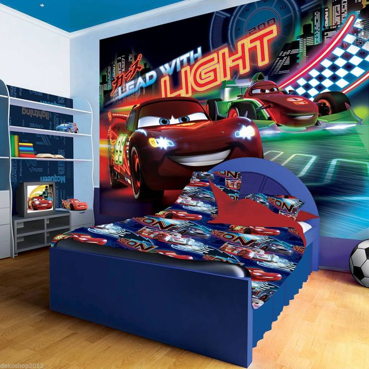 vlies kinder fototapete fototapeten tapete bild disney cars zig zag lead 749ve dekorationshop. Black Bedroom Furniture Sets. Home Design Ideas