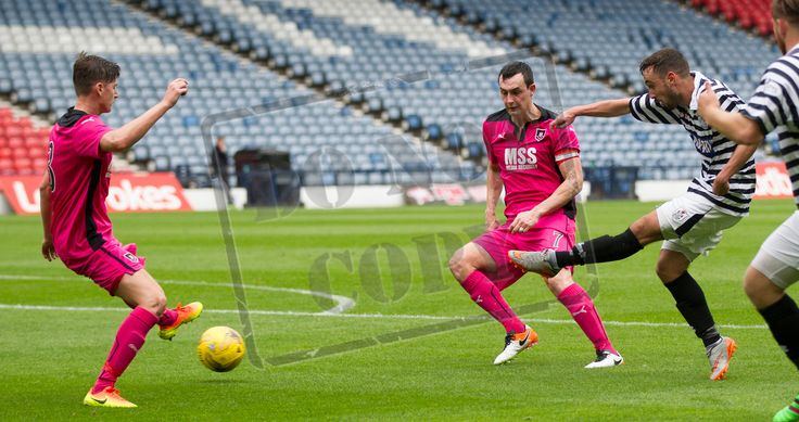 Queen's Park's Anton Brady has a shot during the Ladbrokes League One game between Queen's Park and Airdrieonians.