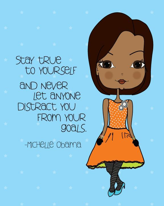 Michelle Obama Quote - Inspirational Art Print