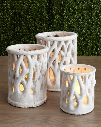 Dover Luminary candle holders for a LOTR wedding.