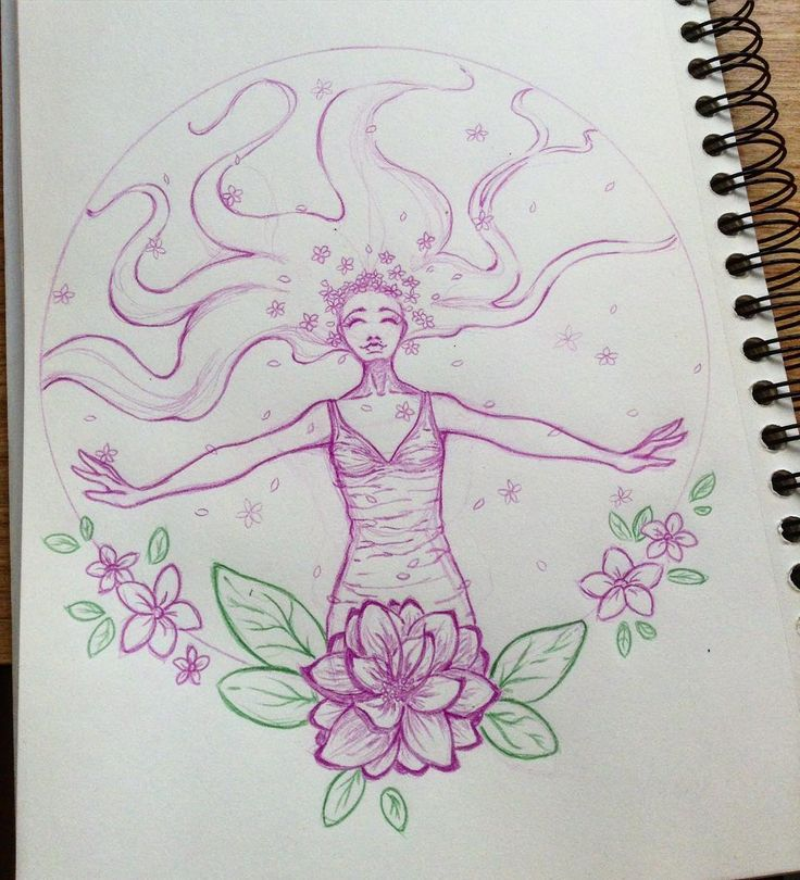 Just relax and breath in  #sketch #purple #flowers #art #happy