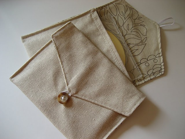 Fabric CD Envelopes