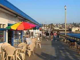a great lil spot to eat here on the Ocean Beach Pier, San Diego, CA ~*~moonmistgirl~*~