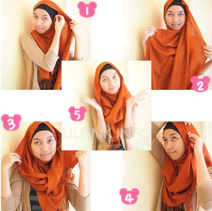 Wear a pashmina hijab in less than 2 minutes