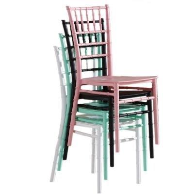 Castillo de plástico silla banquete de boda chiavari silla de comedor del hotel