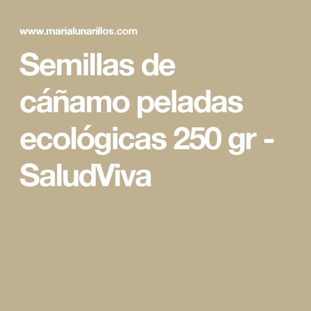 Semillas de cáñamo peladas ecológicas 250 gr - SaludViva