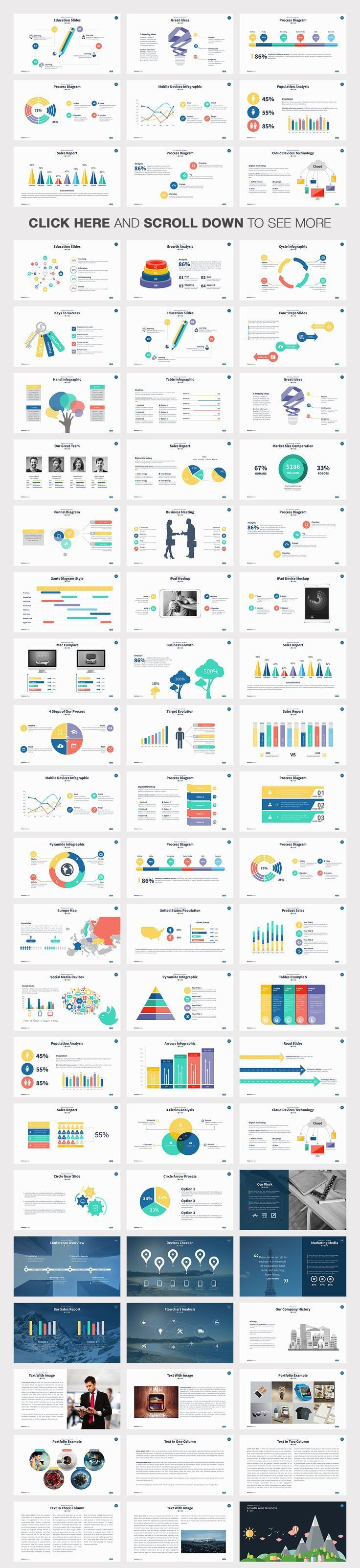 Business infographic : Moderna Powerpoint Template