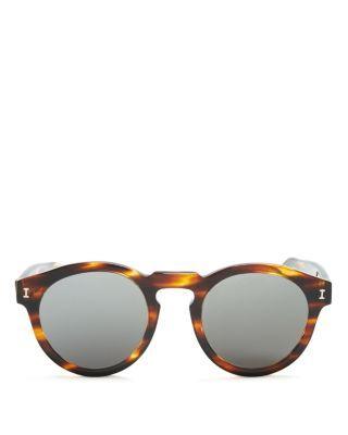 a2c52b7054a ILLESTEVA Mirrored Leonard Flat Lens Sunglasses