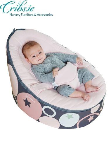 Doomoo baby bean bag seat | Stones Pink | Nursery Furniture | Baby Accessories Ireland | Cribs.ie