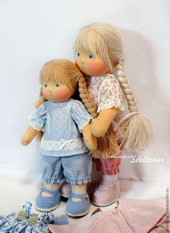 Sisters cute Waldorf doll