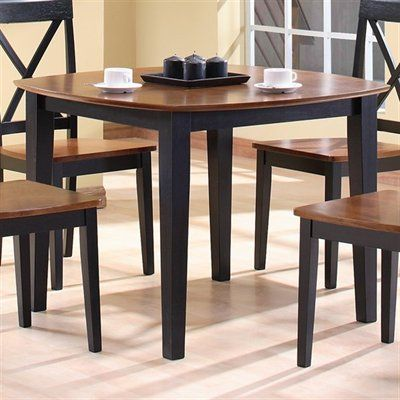 two tone wood kitchen tables table chairs dining room round set