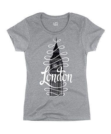 Loving this Gray & Black 'London' Big Ben Tee on #zulily! #zulilyfinds