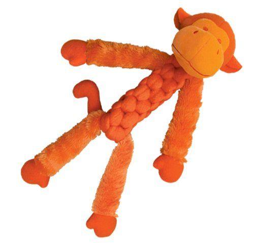 kong braidz fuzzy monkey dog toy medium colors vary amazing product just a click away kong dog toys