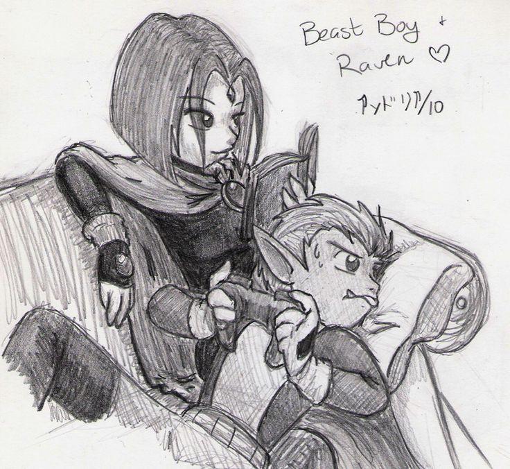 30 OTPs - Beast Boy + Raven by ryukodragon on deviantART