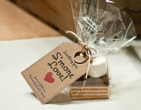 Smore Love Wedding Favor Tags, 125 pieces, Wedding Favors, Love is Sweet, Wedding Tags, Guest Tags, Candy Tags, Thank You Tags $39.00