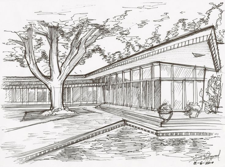 architecture houses sketch 13828 hd wallpapers