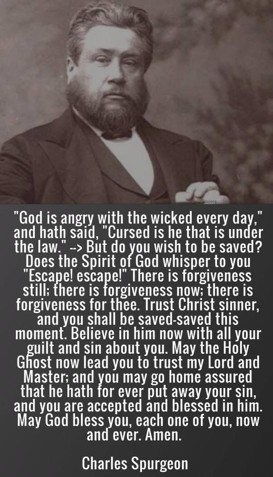 A grand theologian from years past ... but God's Word remains the same ... repent and believe and you will be saved...