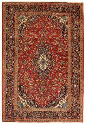 A beautiful handknotted Keshan carpet from Iran.