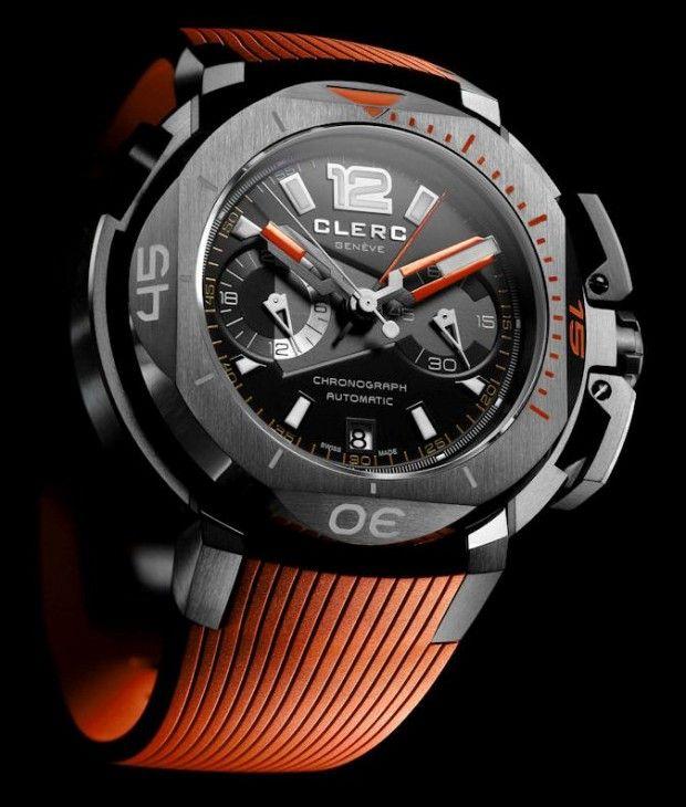 Clerc Hydroscaph Limited Edition Clockwork Orange Central Chronograph Watch