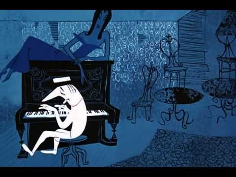 Rooty Toot Toot (1952) - a story about lust and murder told with a jazzy song and score. Music arranged by Phil Moore, one of the first African-American musicians to compose for Hollywood movies. John Hubley hired a ballerina, Olga Ludnick, to perform a reference dance for animator Art Babbitt. The film garnered UPA their second Academy Award.